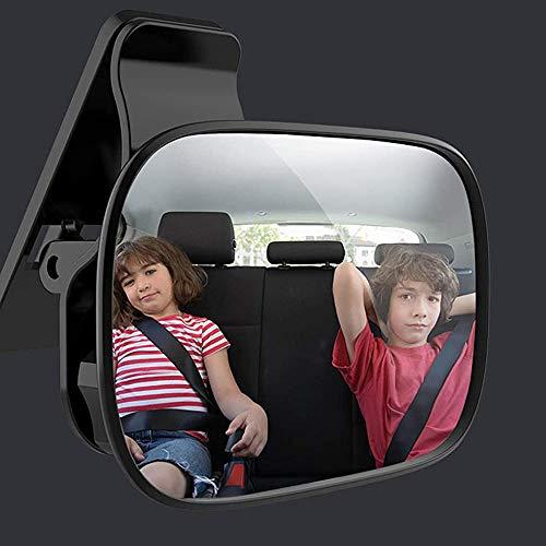MOLATE車用ベビーミラー補助ミラー大視野ミラーで後部座席の様子がすぐ分かる360度回転90mm×55mm