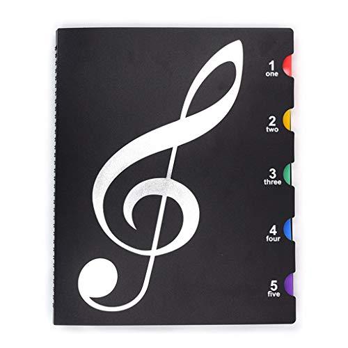 AERVEAL Creative A4 Cartelle per Libri Musicali Spartiti Multifunzione per Pianoforte Pratico Supporto per File, Cartella per Libri Musicali