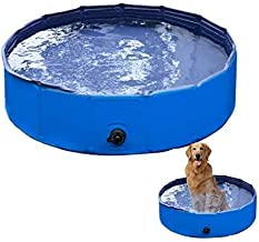 VaygWay Foldable Pet Dog Pool – Portable Swimming Pool Dogs Cats – Bathing Tub and Kiddie Pool – Collapsible Pool for Dogs...