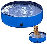 VaygWay Foldable Pet Dog Pool – Portable Swimming Pool Dogs Cats – Bathing Tub and Kiddie Pool – Collapsible Pool for Dogs Cats and Kids
