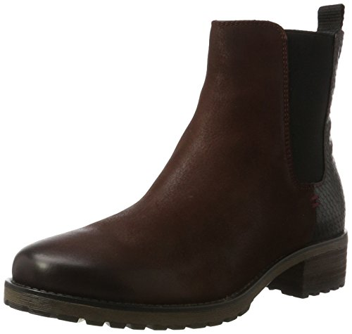 SPM Damen Maggy Chelsea Boots, Mehrfarbig (Black/Burgundy), 39 EU