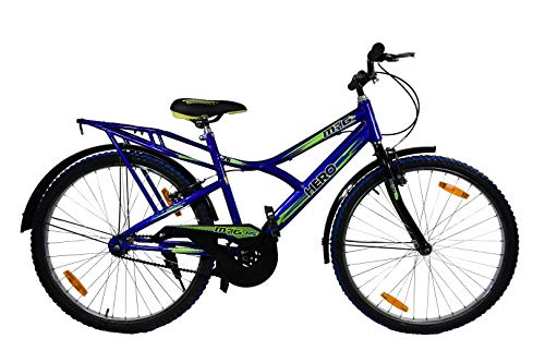Hero Mig RS Single Speed Bike for Adults, 26 Inches (Blue)