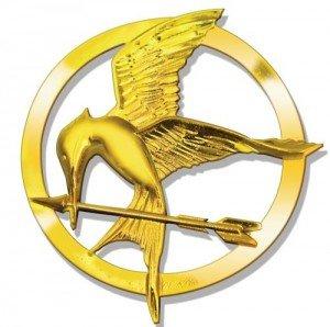 Plateado Juegos del Hambre Katniss Sinsajo 18 quilates de oro broche / Pin. Hunger Games