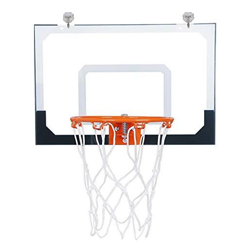 SYHSZ Aro De Baloncesto para Niños, Inodoro, Escritorio De Oficina, Mini Aro De Baloncesto De PVC, Juguete, Decoración del Hogar para Niños, Educación, Amantes del Baloncesto,Blanco