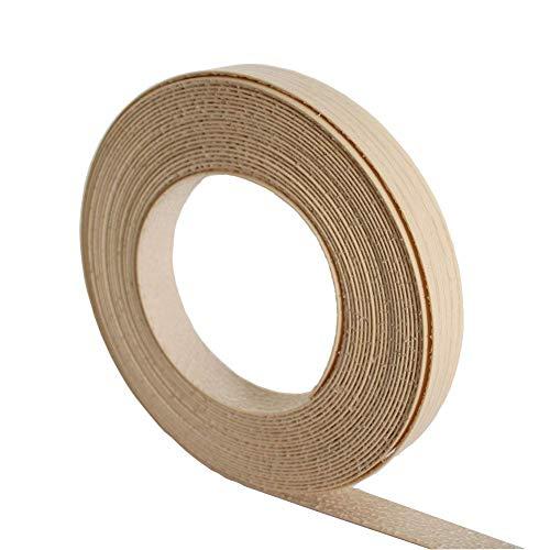 22mm Furnierkante Banderolle Melamin-Kanten Vorgeklebtes Furnierband - 10M Rolle -zum Aufbügeln (Hotmelt) für einfache DIY Anwendung - Bedeckt den Rand eines Standard-MDF-Panels für Möbelreparatur