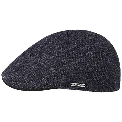 Stetson Texas Classic Wool Flatcap - Schiebermütze Herren - Herrenmütze mit Baumwollfutter - Schirmmütze Herbst/Winter - Wollcap dunkelblau S (54-55 cm)