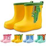 Botas de goma para niños, impermeables, ultraligeras, con cordón, tallas 18-29, color Amarillo, talla 18 EU