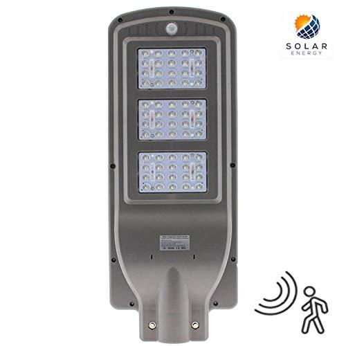 Farola LED Solar URBAN 60W Detector Movimiento K6000 Blanco Frío