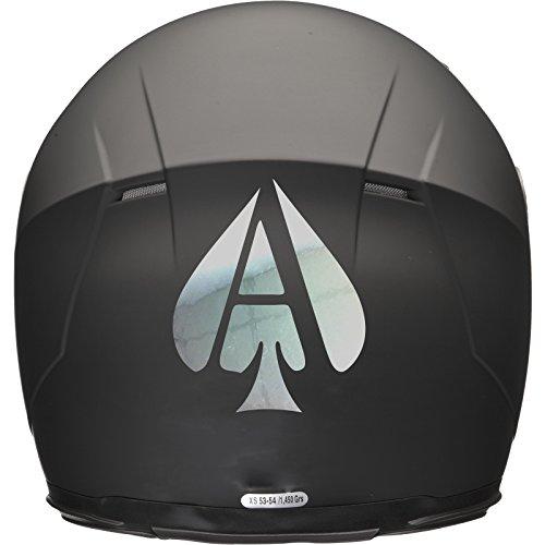 ACE OF SPADES Casco de Moto Coche Adhesivo 100mm x 120mm–Espejo Plata