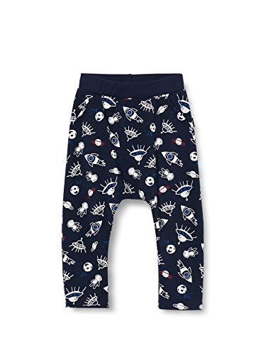 Sanetta Jungen Shadow Blue Einmaliger Inter Galactic Alloverprint vereint auf Einer lässigen Hose Kidswear, Blau (582), 092