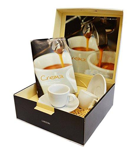 Geschenkbox mit Buch: CREMA: Geschichten und Rezepte für Kaffee-Genießer