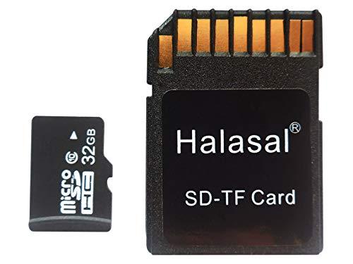 Halasal 32GB C10 TF Karte SD Karte Klasse 10 Micro SD TF Karte SDHC Flash Speicherkarte mit Adapter (32GB, 1 Pack mit 1 Adapter)