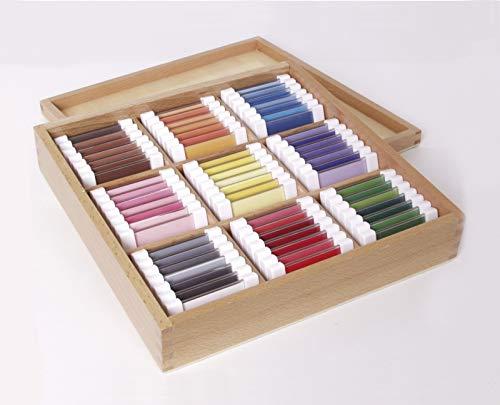 Farbtäfelchen - Kasten mit 63 Stück