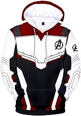 Hombres Vengadores Avengers Sudadera con Capucha Zip 3D Impresión Endgame Quantum Realm