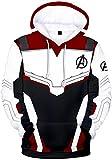 OLIPHEE Sudaderas con Capucha de Guerrero cuántico de Avengers: Endgame para niños jh-M