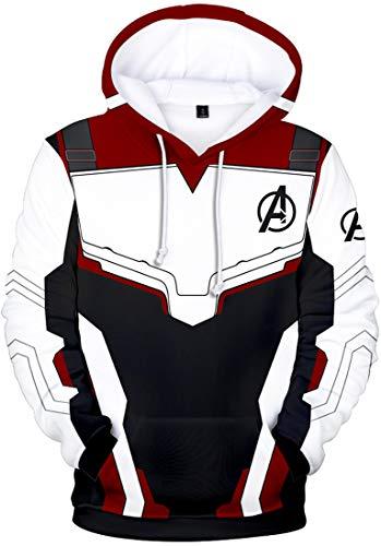 OLIPHEE Jungen Sweatshirt Cosplay Kostüm Superhero Avenger's Endgame Quantum Realm Sweater Jacke (M/Höhe 165-170cm, A-Sweater Weinrot)