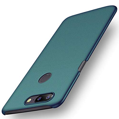 ACMBO for OnePlus 5T A5010 Case, [Sand Gravel Series] Ultra Thin Slim Fit [Anti-Drop] Shockproof Hard Plastic Phone Cases Cover Compatible for OnePlus 5T (1+5T) 6.01 inch, Gravel Green