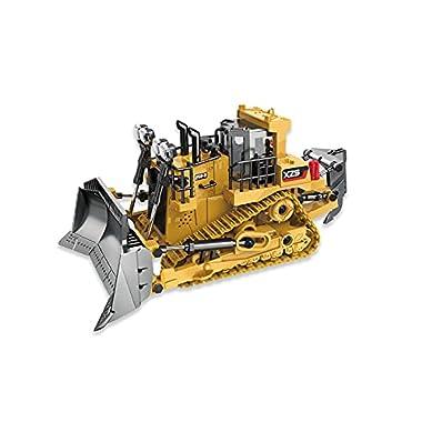 DEORBOB 9 Channel RC Bulldozer Crawler Heavy Alloy Remote Control Construction Earthmover Pushdozer 2.4G Radio…