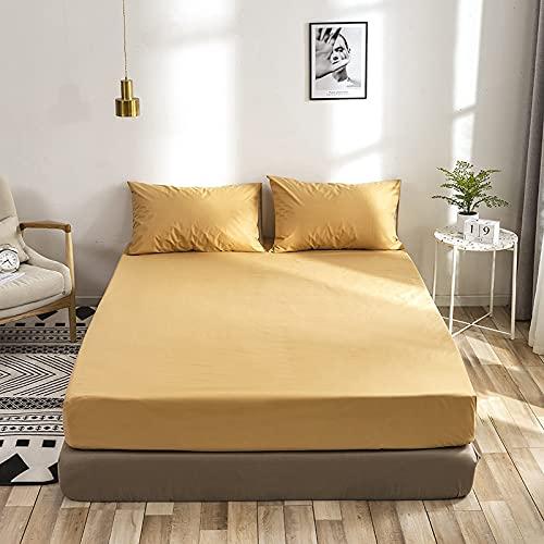 YDyun Protector de colchón/Cubre colchón Acolchado de Fibra antiácaros, Transpirable, Protector de colchón Cepillado