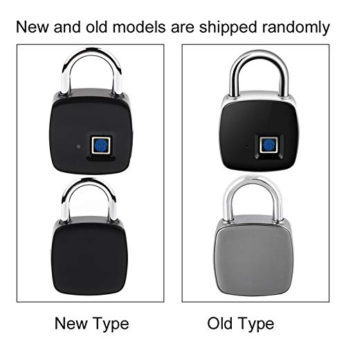 Eboxer Smart Fingerprint Padlock, Waterproof Keyless Metal Anti-Theft Security Lock with 16 Groups of Fingerprints, USB Rechargeable Suitable for House Door, Backpack, Suitcase, Bike, Gym, Office