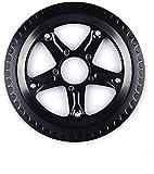 Bafang BBS01 BBS02 - Rueda de cadena y protector de cadena de repuesto para bicicleta eléctrica Ebike Motor negro 44T 46T 48T 52T dientes de la rueda de la cadena con tornillos (52T)