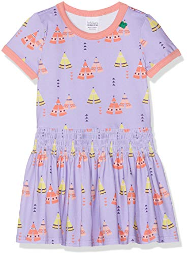 Fred'S World By Green Cotton Tepee Dress Robe, Violet (Lavender 015381701), 95 (Taille Fabricant: 80) Bébé Fille