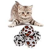 Yanhonin - Juguete para gato, 5 bolas de leopardo, interactivas, para jugar con gato, perro, gatito, rascador, juguete para gato, morder, juguete