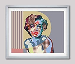 Marilyn Monroe Art Print Pop Poster Painting Wall Decor Unframed