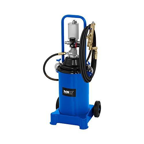 MSW Fettpresse Druckluft Fahrbar Schmierpresse PRO-G 12M (12 L, Arbeitsdruck: 6-8 bar, Pumpendruck: 300-400 bar, 4 m Schlauch, 2 Räder)