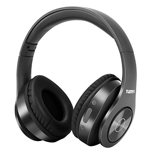 Auriculares Bluetooth Inalámbricos, Auriculares Estéreo Inalámbricos Tuinyo 35H Tiempo de Juego con Bajos Profundos, Orejeras de Proteína de Memoria Suave, Micrófono Incorporado Modo con Cable