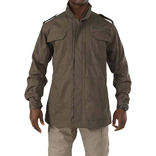 5.11 Tactical Men's Taclite M-65 Field Jacket, Poly/Cotton Ripstop, Teflon Treatment, Tundra, 2XL, Style 78007