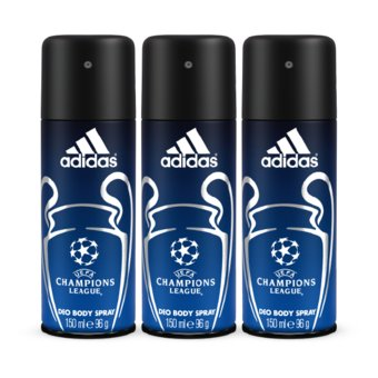 Adidas Champions League Deo Body Spray 150ml Pack of 3