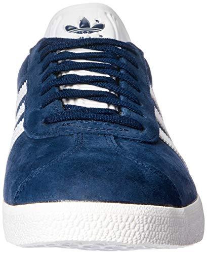 adidas Gazelle, Zapatillas de Deporte Unisex Adulto, Collegiate Navy/White/Gold Metalic, 41 1/3 EU