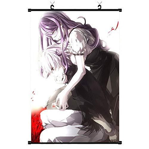 KroY PecoeD Anime Tokyo Ghoul Pared Rollo Póster, Cartoon Anime Pared Pegatina Colgante Pinturas para Casa Oficina Decoración - Estilo 08, Small
