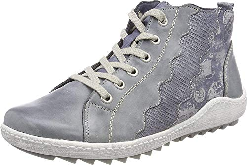 Remonte Damen R1474 High-Top, Blau (Jeans/Denim/Silber), 39 EU