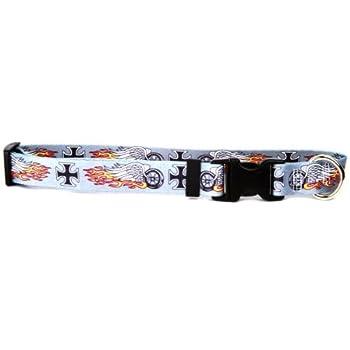 Yellow Dog Design Biker Tattoo Dog Collar - Size Teacup 4  - 9