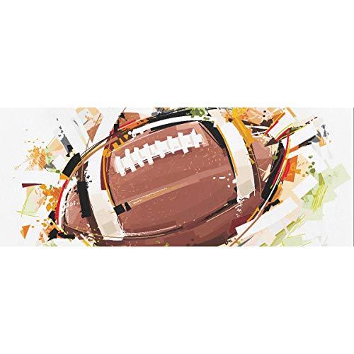 Sketchy Football Hochzeit Geschenkpapier 58x23inch 2 Rollen Flache Weihnachten Geschenkpapier Vatertag Geschenkpapier für Muttertag Osterhochzeiten Geburtstage oder jede Gelegenheit