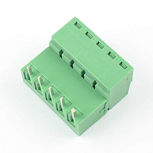 DBParts 10 Sets 7-Pin 5.08mm Pitch Angle Screw Terminal Block Connector Panel PCB Mount DIY 7 Pole