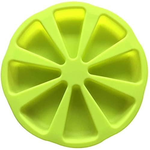 CFDYKRP Silicona Bakeware Hornear Molde de Alimentos 8 Puntos Scone Cake Home Usado en microondas (Color : Green, Shape Style : Round)