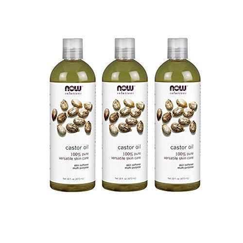 Now Solutions Castor Oil, 100% Pure, 16 Fl Oz (3 Count)