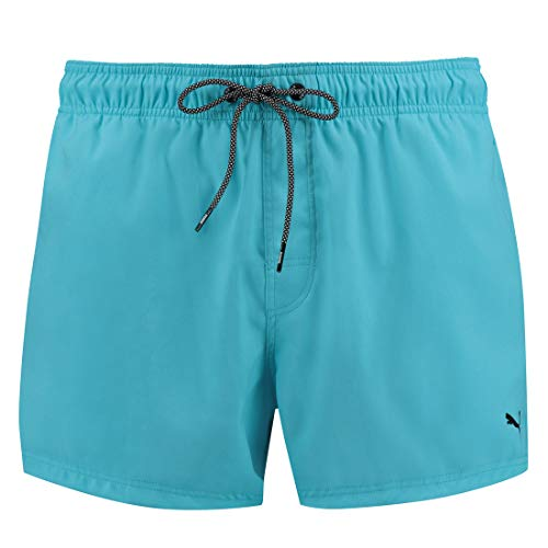PUMA Herren Badehose Badeshorts Logo Short Length Swim Shorts, Farbe:Aqua, Bekleidungsgröße:XXL