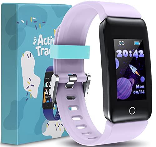 CareUAll Kids Fitness Tracker Watch, Activity Tracker, Pedometer Watch, Heart Rate Sleep Tracker, IP68 Waterproof Calorie Step Counter Watch, Sport Watch, Great Gifts for Boys Girls Teens -RISE