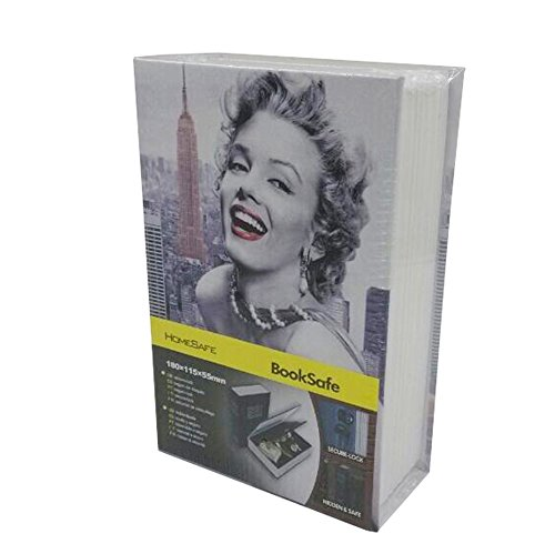 Maxhood Big Size Colours Dictionary Diversion Hidden Book Safe With Strong Metal Case inside and Key Lock, Size 18011555mm (Marilyn Monroe) (18011555mm)