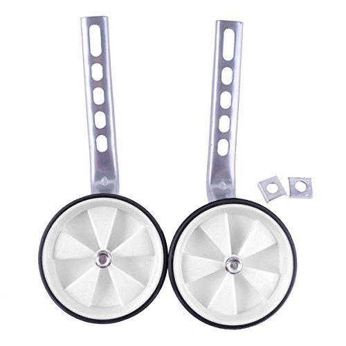 OULII Ruedas de entrenamiento bicicleta para niños infantil cabe 12-20 pulgadas bicicletas profesional(Blanco)