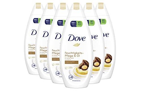 Dove Cremedusche 6er Pack für trockene Haut Pflege & Öl 0{59d737c67e0ce48557578bc89d215fc37ace120bc6b72609130905db1ed1da6c} Sulfat(SLES) (6 x 250 ml)