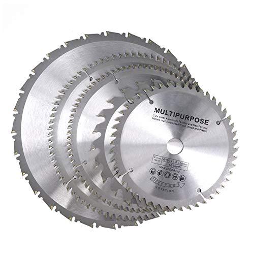 ESUHUANG 1pc Diámetro 160-210mm MulitPurpose TCT Hoja de Sierra Circular Hoderworking Cutting Disc Disc Airbide Sierra de Madera Hoja de Sierra Suministros de Herramientas