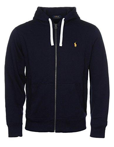 Ralph Lauren Polo Herren-Kapuzenpullover, Fleece-Hoodie, diverse Farben, Größen S - XXL Gr. Small, Navy (Yellow Logo)