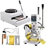 VEVOR 72 Character Manual Embossing Machine and Hot Foil Stamping Machine 10x13 cm for PVC or ID or Credit Card