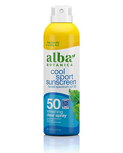 Alba Botanica Cool Sport Sunscreen Spray, SPF 50, 6 Oz