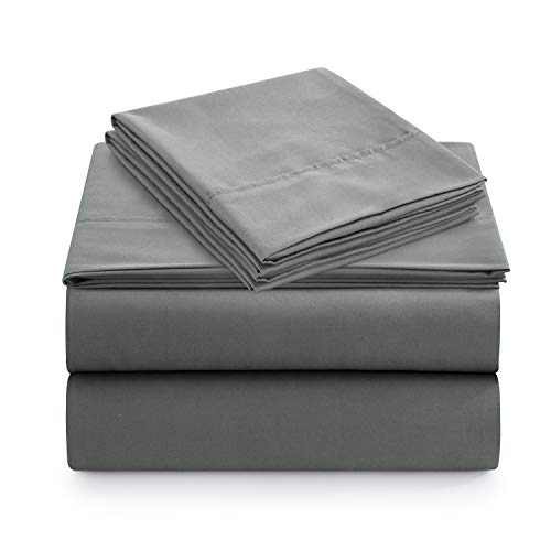 Newspin Bed Sheets Set with 16 inch Deep Pockets Super Soft and Comforterble 4 PieceGray Queen